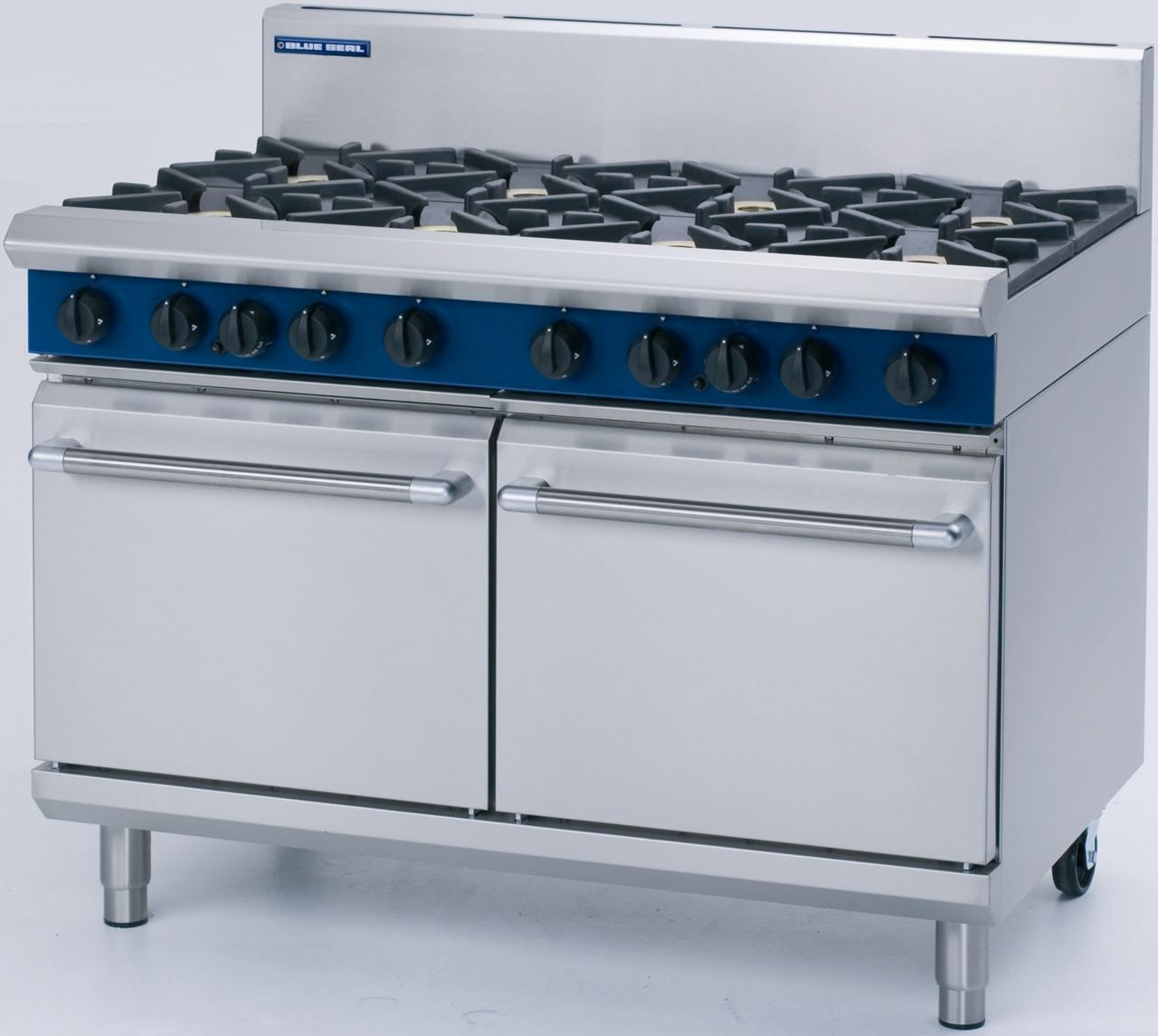 Blue Seal G528 8 Burner Double Static Oven - Washtech   WTS Catering ...